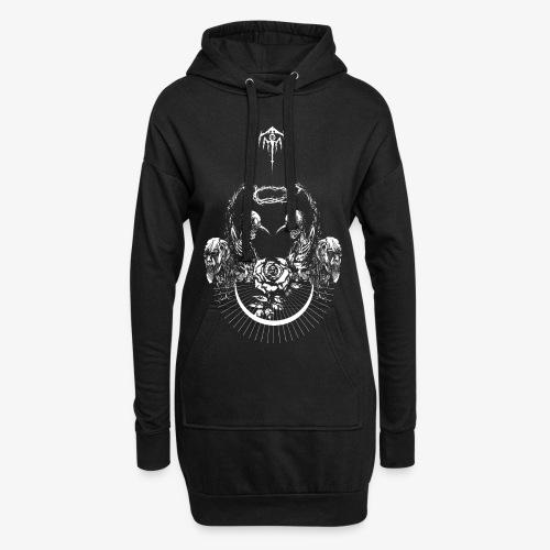 Nocturn design 2 - Sweat-shirt à capuche long Femme