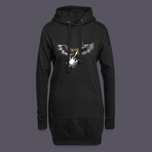 Greifvogel mitGitarrenbeute - Hoodie-Kleid