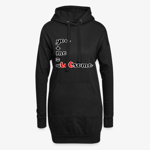 You and Me = AWEsome Valentinstag - Hoodie-Kleid