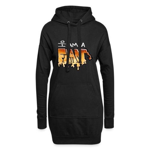 I Am a Flan - Sweat-shirt à capuche long Femme