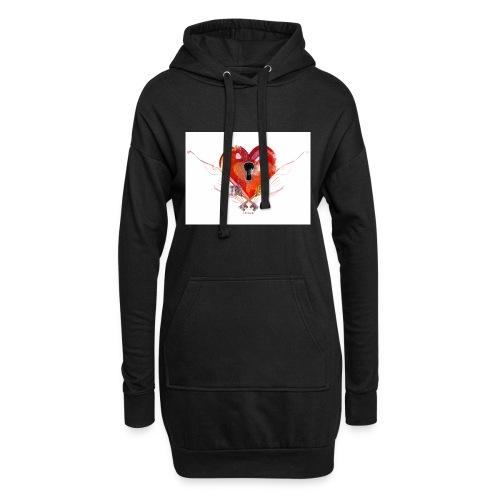 stvalentinmotif2 - Sweat-shirt à capuche long Femme