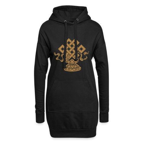 Endlosknoten, Buddhistisches Glückssymbol, Lotus - Hoodie-Kleid