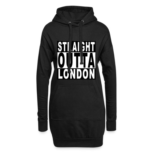 STRAIGHT OUTTA LONDON - Hoodie Dress