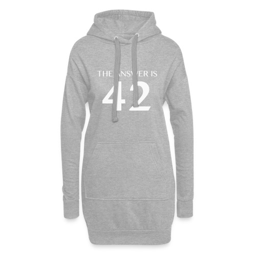 The Answer is 42 White - Hoodie Dress