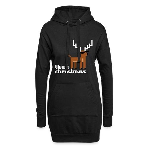 Christmas Xmas Deer Pixel Funny - Hoodie Dress