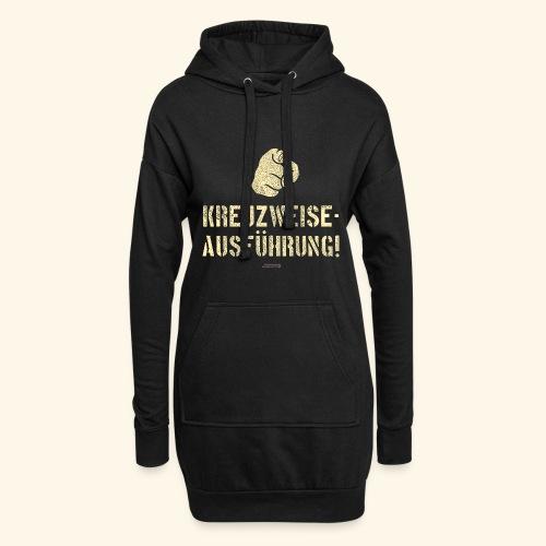 Lustiges Sprüche Design T Shirt Kreuzweise - Hoodie-Kleid