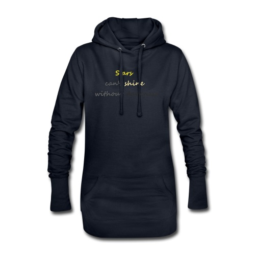 Stars can not shine without darkness - Hoodie Dress