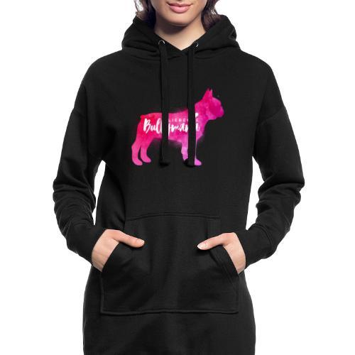 Liebende Bullymama - Französische Bulldogge - Hoodie-Kleid