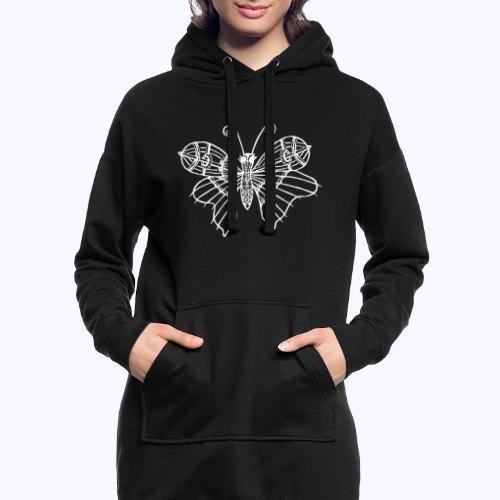 Schmetterling weiss - Hoodie-Kleid
