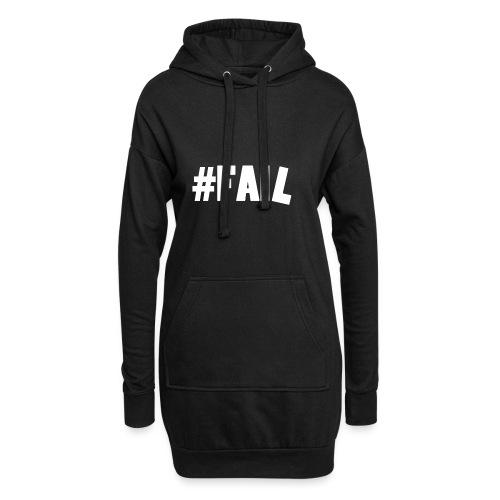 FAIL / White - Sweat-shirt à capuche long Femme