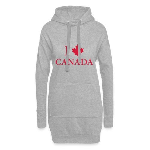 I love Canada Ahornblatt Kanada Vancouver Ottawa - Hoodie Dress