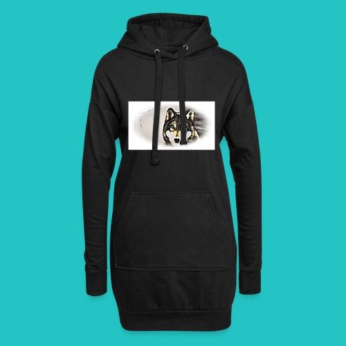 Bluza Wilk - Długa bluza z kapturem