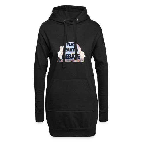 Flat Earth Debate Cartoon - Hoodie Dress