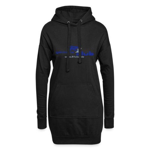 R1club Logo blau - Hoodie-Kleid