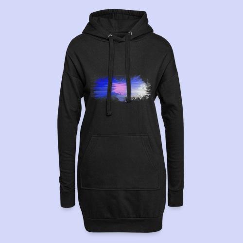Blue lights - Female shirt - Hoodie-kjole