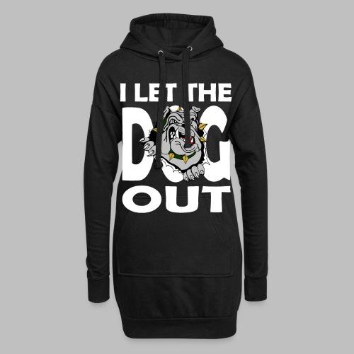 Hund i let the DOG out Bulldogge Hundebesitzer - Hoodie-Kleid