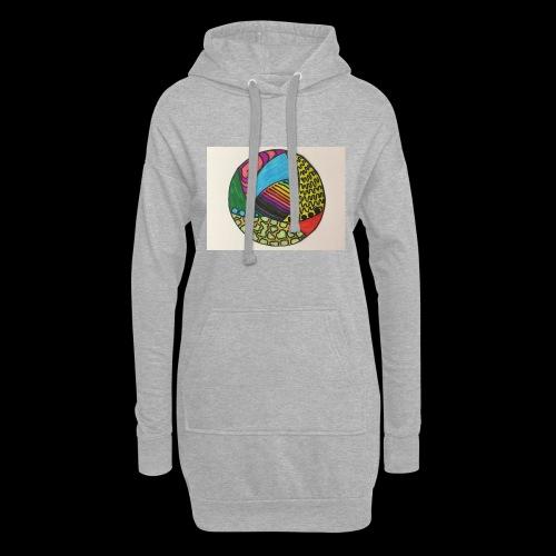 circle corlor - Hoodie-kjole