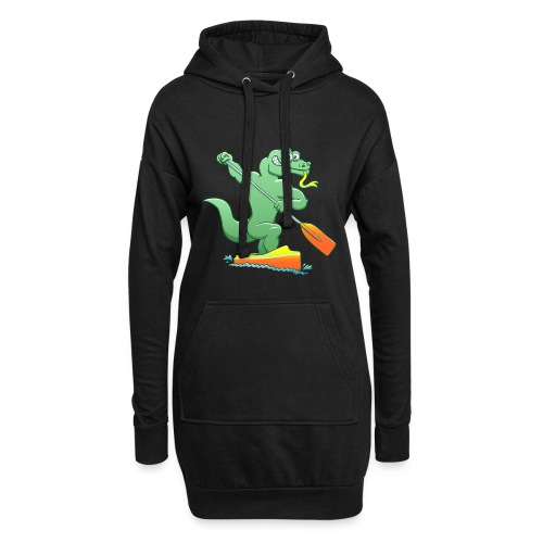 Water Monitor Competing in a Canoe Sprint Event - Hoodie Dress