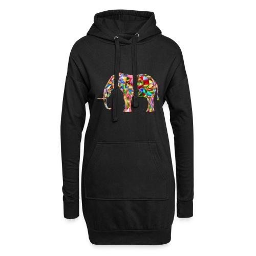 Gestandener Elefant - Hoodie-Kleid