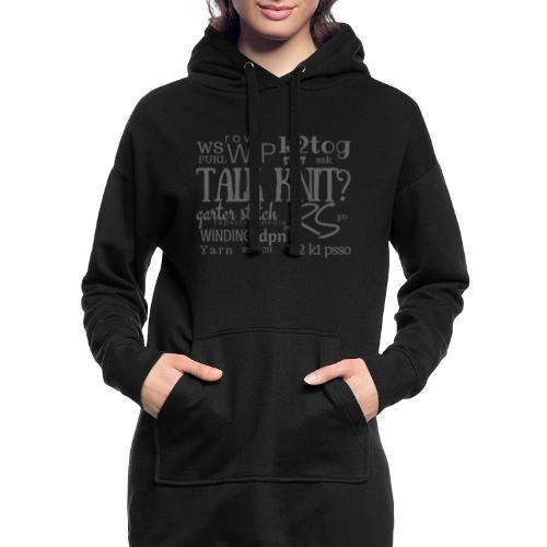 Talk Knit ?, gray - Hoodie Dress