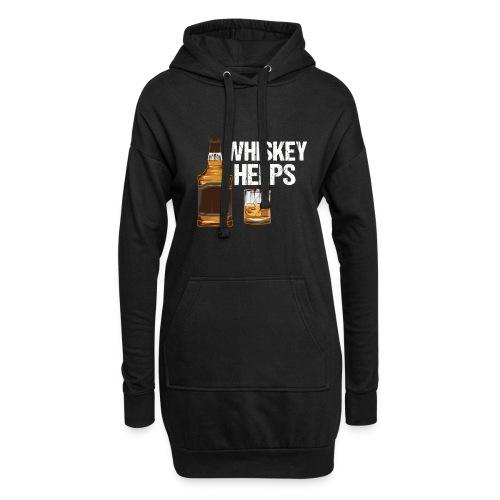 Whiskey helps - Alkohol - Hoodie-Kleid