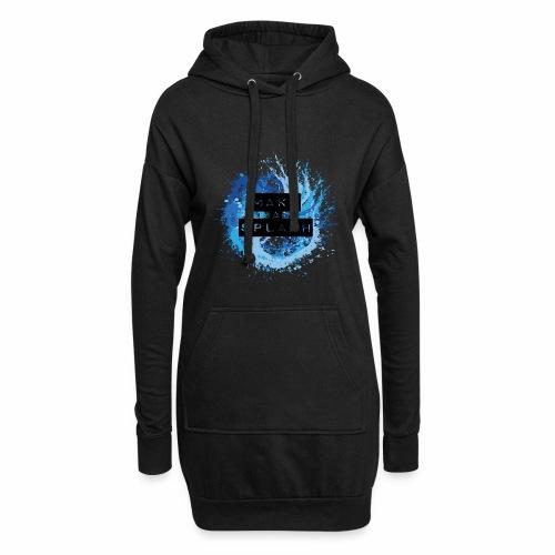 Make a Splash - Aquarell Design in Blau - Hoodie-Kleid