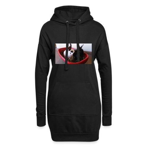 Warme Sachen mit dem Hasenlogo - Hoodie-Kleid