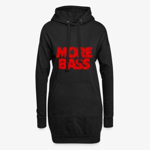 More Bass (Vintage/Rot) Bassist Bassisten - Hoodie-Kleid