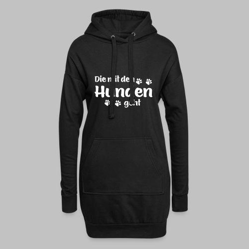 DIE MIT DEN HUNDEN GEHT - Hundepfoten - Hoodie-Kleid