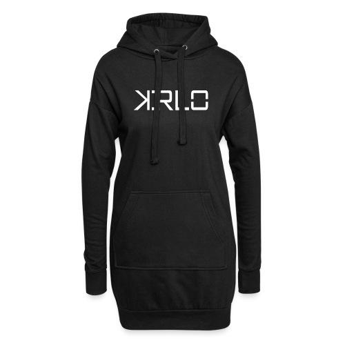Kirlo Logo Blanco - Sudadera vestido con capucha