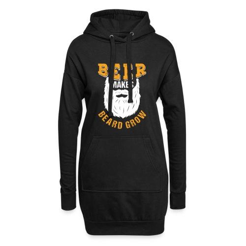 Beer Makes Beard Grow Funny Gift - Hoodie-Kleid