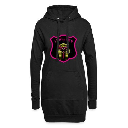 Pharaon Noir, Rose, Jaune hyper design - Sweat-shirt à capuche long Femme