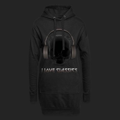 I love classics Black - Sweat-shirt à capuche long Femme