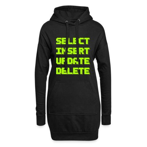 SQL pixelart black - Hoodie-Kleid