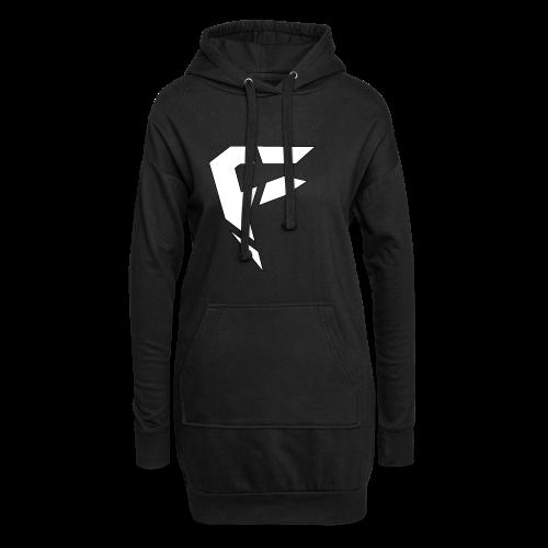 F Logo in Weiß - Hoodie-Kleid