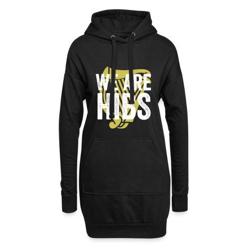 WEAREHIBS WhiteWithGoldHarp - Hoodie Dress