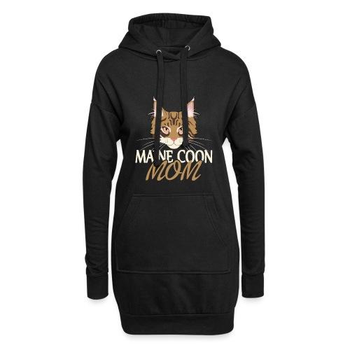 Maine Coon Katze Geschenk für Frau Coonie - Hoodie-Kleid