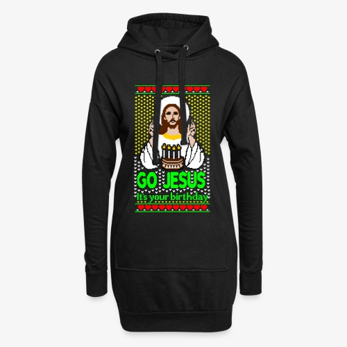 Go Jesus its your Birthday Ugly Christmas Sweater - Hoodie-Kleid
