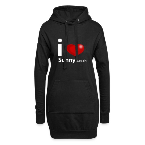 I love Sunny Beach 2 (white print) - Hoodie Dress