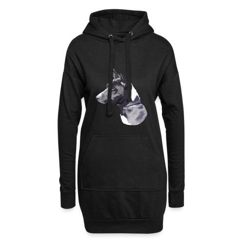 basenji black - Hoodie-kjole