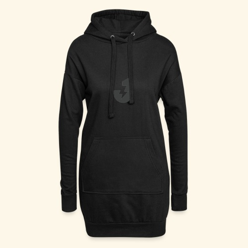 Large J Logo Print - Hoodie Dress