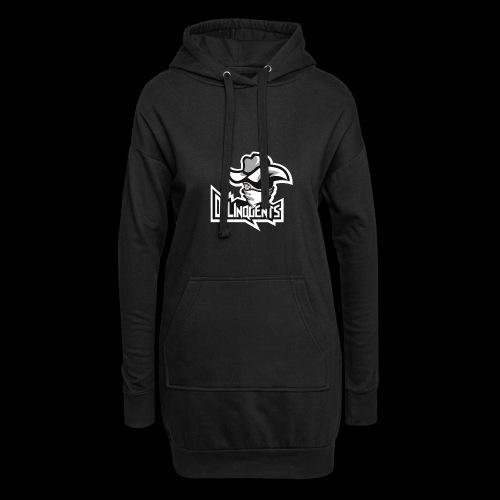 Delinquents Sort Design - Hoodie-kjole