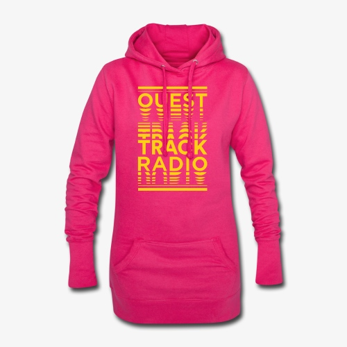 Logo Vertical Grand Jaune - Sweat-shirt à capuche long Femme