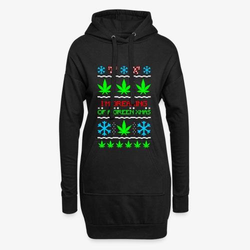 Green Ugly Christmas Weed - Hoodie-Kleid