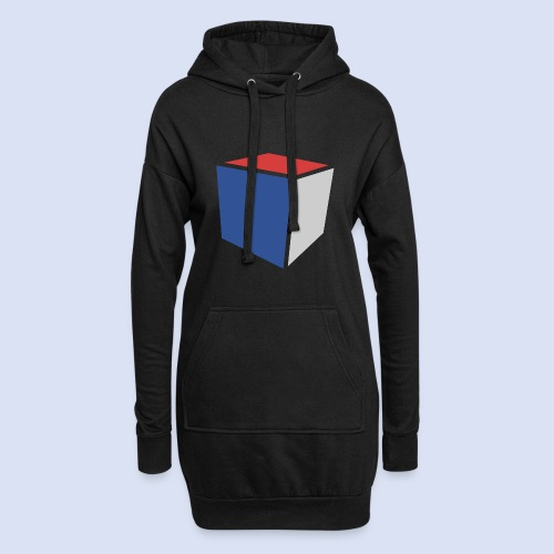 Cube Minimaliste - Sweat-shirt à capuche long Femme