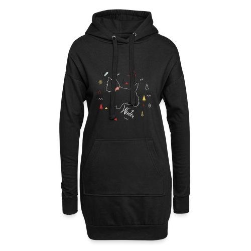 WINTER DOG COLLECTION - Sweat-shirt à capuche long Femme