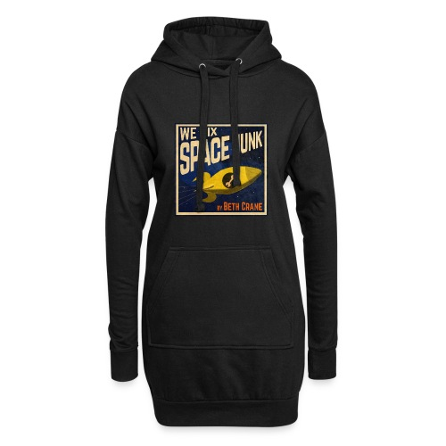 We Fix Space Junk logo (square) - Hoodie Dress