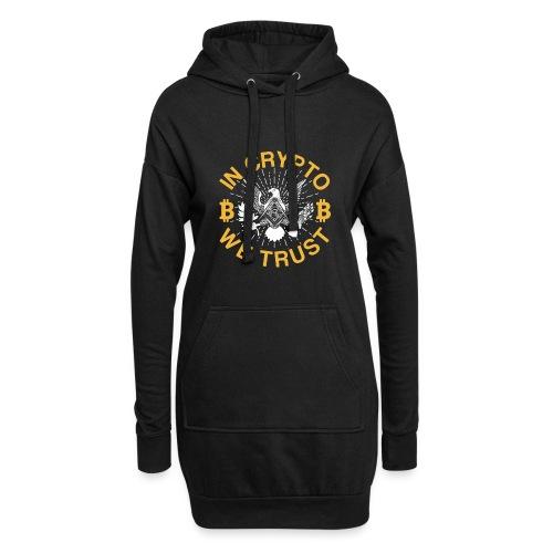 IN CRYPTO WE TRUST - Hoodie-Kleid