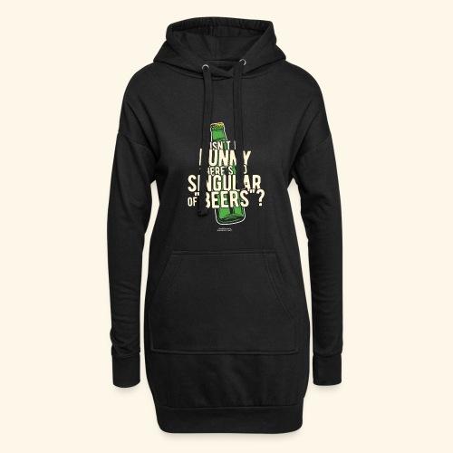 Beer T Shirt Designs Singular of Beers - Hoodie-Kleid