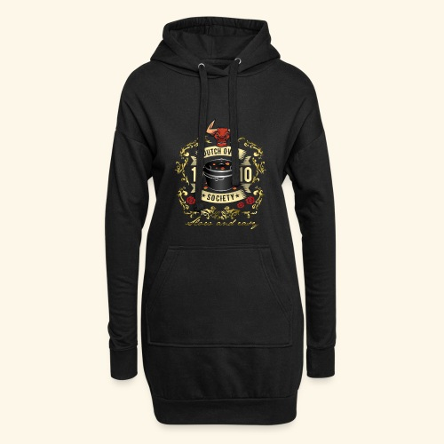 Grill-T-Shirt Dutch Oven Society - Geschenkidee! - Hoodie-Kleid